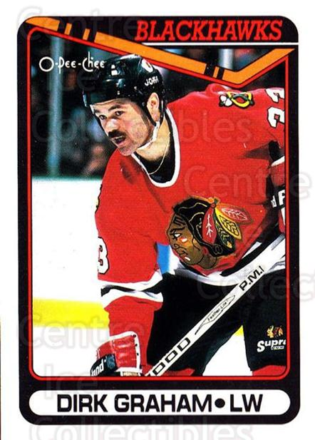 1990-91 O-Pee-Chee #179 Dirk Graham<br/>7 In Stock - $1.00 each - <a href=https://centericecollectibles.foxycart.com/cart?name=1990-91%20O-Pee-Chee%20%23179%20Dirk%20Graham...&quantity_max=7&price=$1.00&code=253618 class=foxycart> Buy it now! </a>