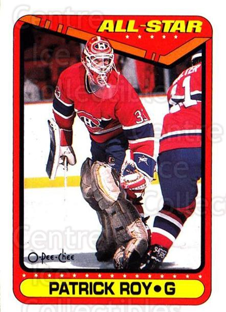 1990-91 O-Pee-Chee #198 Patrick Roy<br/>5 In Stock - $2.00 each - <a href=https://centericecollectibles.foxycart.com/cart?name=1990-91%20O-Pee-Chee%20%23198%20Patrick%20Roy...&quantity_max=5&price=$2.00&code=253637 class=foxycart> Buy it now! </a>
