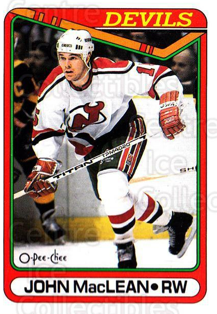 1990-91 O-Pee-Chee #224 John MacLean<br/>7 In Stock - $1.00 each - <a href=https://centericecollectibles.foxycart.com/cart?name=1990-91%20O-Pee-Chee%20%23224%20John%20MacLean...&quantity_max=7&price=$1.00&code=253663 class=foxycart> Buy it now! </a>