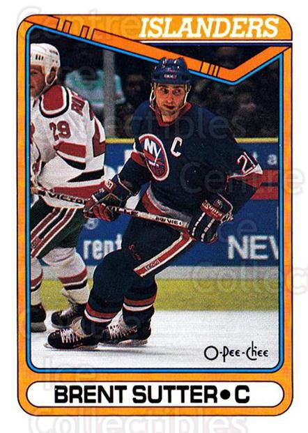 1990-91 O-Pee-Chee #258 Brent Sutter<br/>7 In Stock - $1.00 each - <a href=https://centericecollectibles.foxycart.com/cart?name=1990-91%20O-Pee-Chee%20%23258%20Brent%20Sutter...&quantity_max=7&price=$1.00&code=253697 class=foxycart> Buy it now! </a>