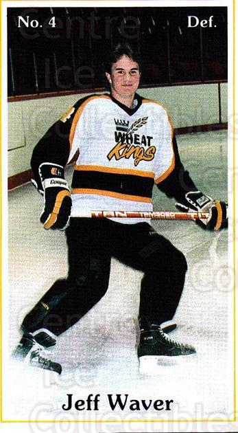1985-86 Brandon Wheat Kings #16 Jeff Waver<br/>6 In Stock - $3.00 each - <a href=https://centericecollectibles.foxycart.com/cart?name=1985-86%20Brandon%20Wheat%20Kings%20%2316%20Jeff%20Waver...&quantity_max=6&price=$3.00&code=25371 class=foxycart> Buy it now! </a>