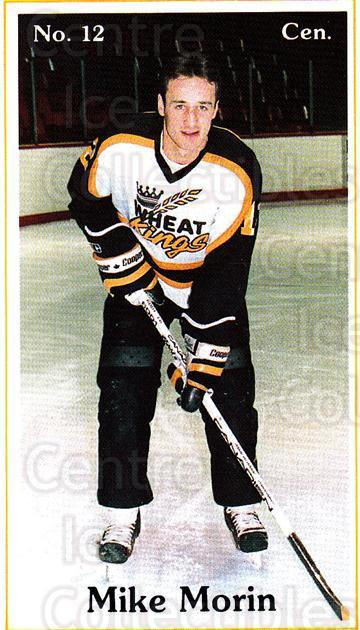 1985-86 Brandon Wheat Kings #19 Mike Morin<br/>6 In Stock - $3.00 each - <a href=https://centericecollectibles.foxycart.com/cart?name=1985-86%20Brandon%20Wheat%20Kings%20%2319%20Mike%20Morin...&quantity_max=6&price=$3.00&code=25374 class=foxycart> Buy it now! </a>