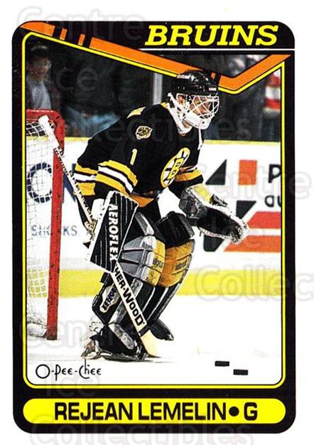 1990-91 O-Pee-Chee #343 Rejean Lemelin<br/>7 In Stock - $1.00 each - <a href=https://centericecollectibles.foxycart.com/cart?name=1990-91%20O-Pee-Chee%20%23343%20Rejean%20Lemelin...&price=$1.00&code=253782 class=foxycart> Buy it now! </a>