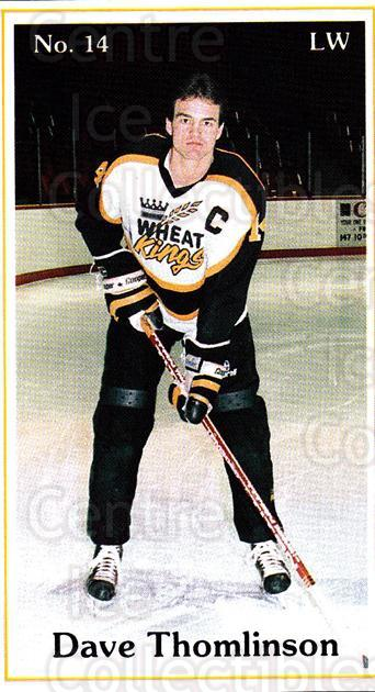 1985-86 Brandon Wheat Kings #22 Dave Thomlinson<br/>6 In Stock - $3.00 each - <a href=https://centericecollectibles.foxycart.com/cart?name=1985-86%20Brandon%20Wheat%20Kings%20%2322%20Dave%20Thomlinson...&quantity_max=6&price=$3.00&code=25378 class=foxycart> Buy it now! </a>