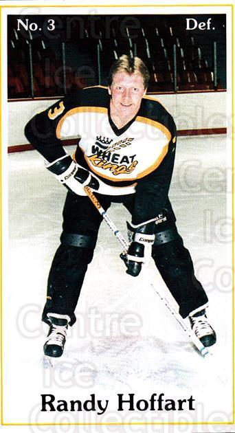 1985-86 Brandon Wheat Kings #24 Randy Hoffart<br/>7 In Stock - $3.00 each - <a href=https://centericecollectibles.foxycart.com/cart?name=1985-86%20Brandon%20Wheat%20Kings%20%2324%20Randy%20Hoffart...&quantity_max=7&price=$3.00&code=25380 class=foxycart> Buy it now! </a>