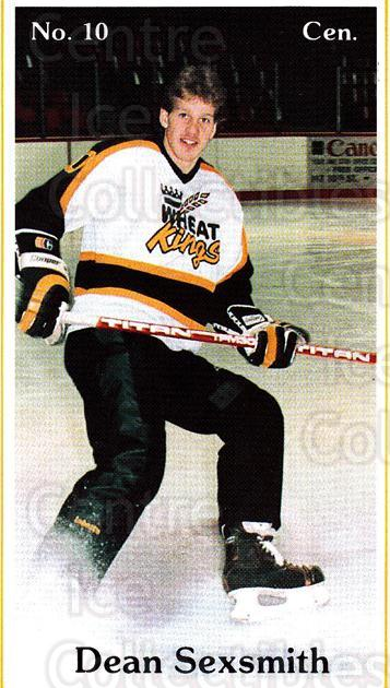 1985-86 Brandon Wheat Kings #5 Dean Sexsmith<br/>2 In Stock - $3.00 each - <a href=https://centericecollectibles.foxycart.com/cart?name=1985-86%20Brandon%20Wheat%20Kings%20%235%20Dean%20Sexsmith...&quantity_max=2&price=$3.00&code=25383 class=foxycart> Buy it now! </a>