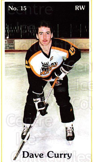 1985-86 Brandon Wheat Kings #6 Dave Curry<br/>7 In Stock - $3.00 each - <a href=https://centericecollectibles.foxycart.com/cart?name=1985-86%20Brandon%20Wheat%20Kings%20%236%20Dave%20Curry...&quantity_max=7&price=$3.00&code=25384 class=foxycart> Buy it now! </a>