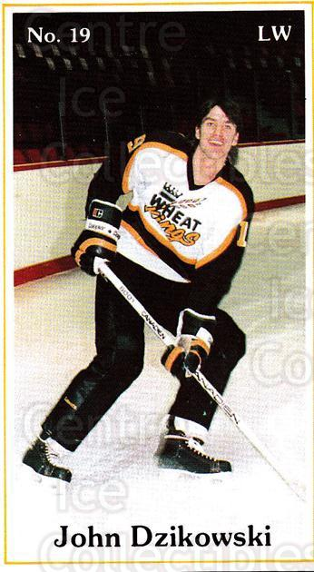 1985-86 Brandon Wheat Kings #7 John Dzikowski<br/>5 In Stock - $3.00 each - <a href=https://centericecollectibles.foxycart.com/cart?name=1985-86%20Brandon%20Wheat%20Kings%20%237%20John%20Dzikowski...&quantity_max=5&price=$3.00&code=25385 class=foxycart> Buy it now! </a>