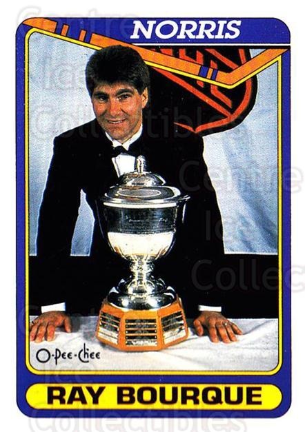1990-91 O-Pee-Chee #475 Ray Bourque, Norris Trophy<br/>5 In Stock - $1.00 each - <a href=https://centericecollectibles.foxycart.com/cart?name=1990-91%20O-Pee-Chee%20%23475%20Ray%20Bourque,%20No...&quantity_max=5&price=$1.00&code=253914 class=foxycart> Buy it now! </a>