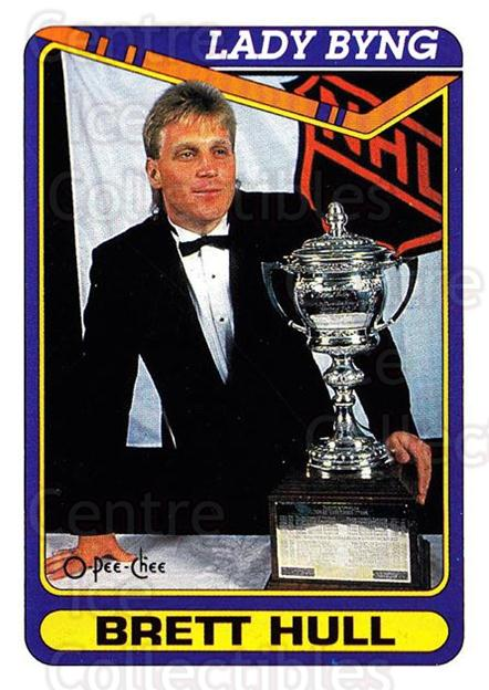 1990-91 O-Pee-Chee #513 Brett Hull, Lady Byng Trophy<br/>7 In Stock - $1.00 each - <a href=https://centericecollectibles.foxycart.com/cart?name=1990-91%20O-Pee-Chee%20%23513%20Brett%20Hull,%20Lad...&price=$1.00&code=253952 class=foxycart> Buy it now! </a>