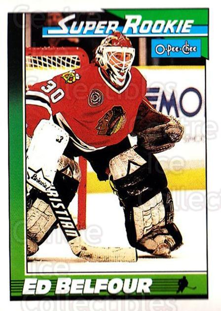 1991-92 O-Pee-Chee #4 Ed Belfour<br/>3 In Stock - $1.00 each - <a href=https://centericecollectibles.foxycart.com/cart?name=1991-92%20O-Pee-Chee%20%234%20Ed%20Belfour...&quantity_max=3&price=$1.00&code=253971 class=foxycart> Buy it now! </a>