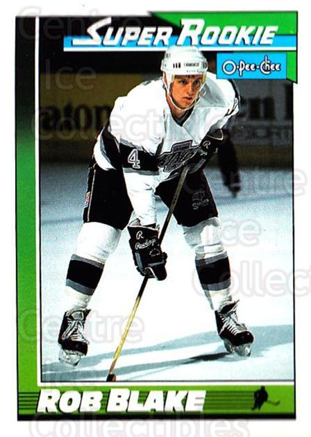 1991-92 O-Pee-Chee #6 Rob Blake<br/>2 In Stock - $1.00 each - <a href=https://centericecollectibles.foxycart.com/cart?name=1991-92%20O-Pee-Chee%20%236%20Rob%20Blake...&quantity_max=2&price=$1.00&code=253973 class=foxycart> Buy it now! </a>