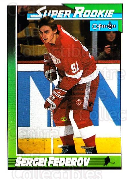 1991-92 O-Pee-Chee #8 Sergei Fedorov<br/>2 In Stock - $1.00 each - <a href=https://centericecollectibles.foxycart.com/cart?name=1991-92%20O-Pee-Chee%20%238%20Sergei%20Fedorov...&quantity_max=2&price=$1.00&code=253975 class=foxycart> Buy it now! </a>