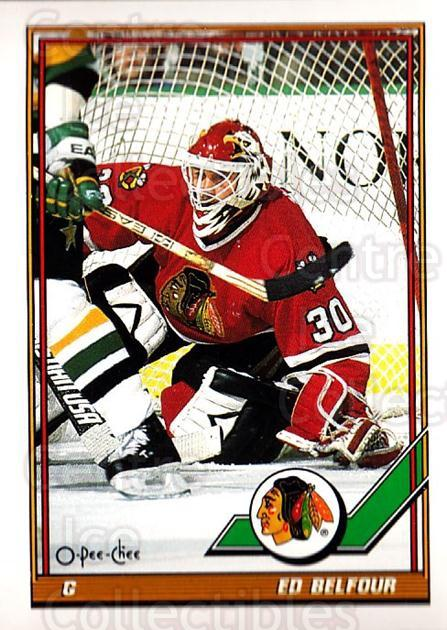 1991-92 O-Pee-Chee #20 Ed Belfour<br/>3 In Stock - $1.00 each - <a href=https://centericecollectibles.foxycart.com/cart?name=1991-92%20O-Pee-Chee%20%2320%20Ed%20Belfour...&quantity_max=3&price=$1.00&code=253987 class=foxycart> Buy it now! </a>