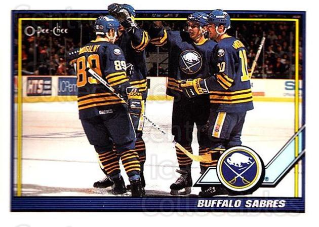1991-92 O-Pee-Chee #32 Buffalo Sabres<br/>5 In Stock - $1.00 each - <a href=https://centericecollectibles.foxycart.com/cart?name=1991-92%20O-Pee-Chee%20%2332%20Buffalo%20Sabres...&quantity_max=5&price=$1.00&code=253999 class=foxycart> Buy it now! </a>