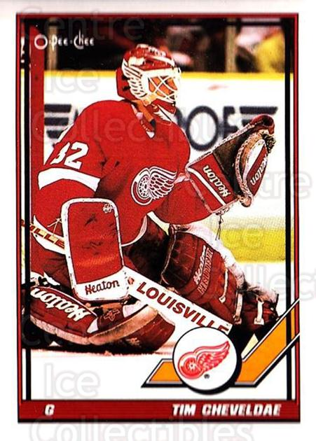 1991-92 O-Pee-Chee #35 Tim Cheveldae<br/>6 In Stock - $1.00 each - <a href=https://centericecollectibles.foxycart.com/cart?name=1991-92%20O-Pee-Chee%20%2335%20Tim%20Cheveldae...&quantity_max=6&price=$1.00&code=254002 class=foxycart> Buy it now! </a>