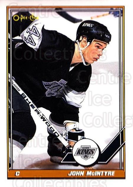1991-92 O-Pee-Chee #37 John McIntyre<br/>5 In Stock - $1.00 each - <a href=https://centericecollectibles.foxycart.com/cart?name=1991-92%20O-Pee-Chee%20%2337%20John%20McIntyre...&quantity_max=5&price=$1.00&code=254004 class=foxycart> Buy it now! </a>