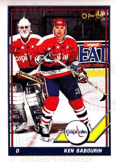 1991-92 O-Pee-Chee #43 Ken Sabourin<br/>4 In Stock - $1.00 each - <a href=https://centericecollectibles.foxycart.com/cart?name=1991-92%20O-Pee-Chee%20%2343%20Ken%20Sabourin...&quantity_max=4&price=$1.00&code=254010 class=foxycart> Buy it now! </a>