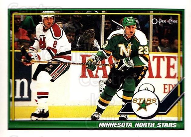 1991-92 O-Pee-Chee #44 Minnesota North Stars<br/>6 In Stock - $1.00 each - <a href=https://centericecollectibles.foxycart.com/cart?name=1991-92%20O-Pee-Chee%20%2344%20Minnesota%20North...&quantity_max=6&price=$1.00&code=254011 class=foxycart> Buy it now! </a>