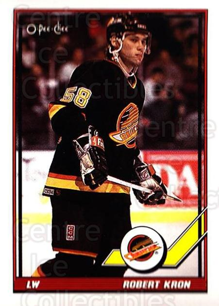 1991-92 O-Pee-Chee #52 Robert Kron<br/>5 In Stock - $1.00 each - <a href=https://centericecollectibles.foxycart.com/cart?name=1991-92%20O-Pee-Chee%20%2352%20Robert%20Kron...&quantity_max=5&price=$1.00&code=254019 class=foxycart> Buy it now! </a>
