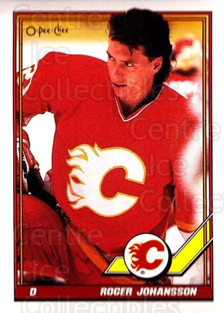 1991-92 O-Pee-Chee #53 Roger Johansson<br/>4 In Stock - $1.00 each - <a href=https://centericecollectibles.foxycart.com/cart?name=1991-92%20O-Pee-Chee%20%2353%20Roger%20Johansson...&quantity_max=4&price=$1.00&code=254020 class=foxycart> Buy it now! </a>