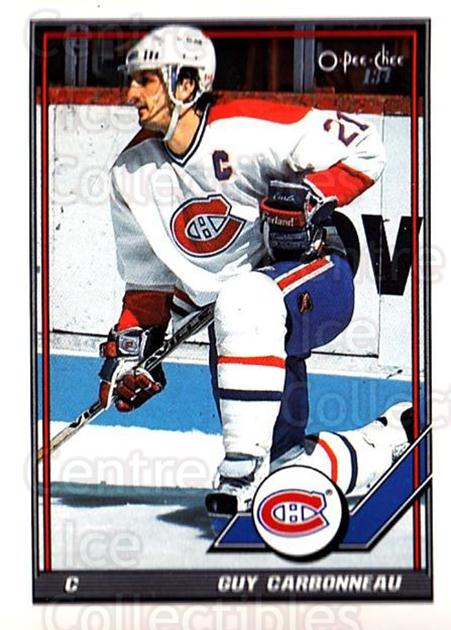 1991-92 O-Pee-Chee #54 Guy Carbonneau<br/>4 In Stock - $1.00 each - <a href=https://centericecollectibles.foxycart.com/cart?name=1991-92%20O-Pee-Chee%20%2354%20Guy%20Carbonneau...&quantity_max=4&price=$1.00&code=254021 class=foxycart> Buy it now! </a>