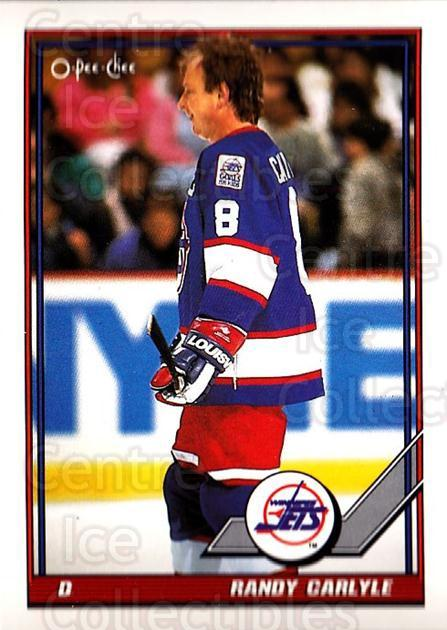 1991-92 O-Pee-Chee #72 Randy Carlyle<br/>4 In Stock - $1.00 each - <a href=https://centericecollectibles.foxycart.com/cart?name=1991-92%20O-Pee-Chee%20%2372%20Randy%20Carlyle...&quantity_max=4&price=$1.00&code=254039 class=foxycart> Buy it now! </a>