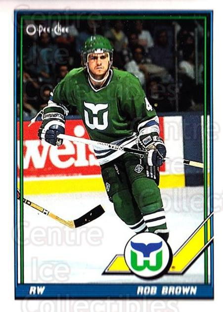 1991-92 O-Pee-Chee #83 Rob Brown<br/>5 In Stock - $1.00 each - <a href=https://centericecollectibles.foxycart.com/cart?name=1991-92%20O-Pee-Chee%20%2383%20Rob%20Brown...&quantity_max=5&price=$1.00&code=254050 class=foxycart> Buy it now! </a>