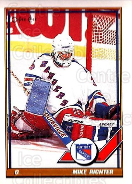 1991-92 O-Pee-Chee #91 Mike Richter<br/>5 In Stock - $1.00 each - <a href=https://centericecollectibles.foxycart.com/cart?name=1991-92%20O-Pee-Chee%20%2391%20Mike%20Richter...&quantity_max=5&price=$1.00&code=254058 class=foxycart> Buy it now! </a>