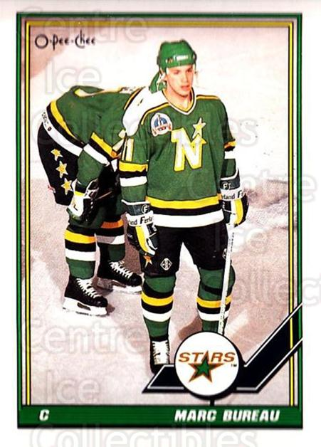 1991-92 O-Pee-Chee #93 Marc Bureau<br/>6 In Stock - $1.00 each - <a href=https://centericecollectibles.foxycart.com/cart?name=1991-92%20O-Pee-Chee%20%2393%20Marc%20Bureau...&quantity_max=6&price=$1.00&code=254060 class=foxycart> Buy it now! </a>