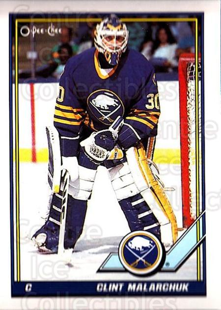 1991-92 O-Pee-Chee #97 Clint Malarchuk<br/>3 In Stock - $1.00 each - <a href=https://centericecollectibles.foxycart.com/cart?name=1991-92%20O-Pee-Chee%20%2397%20Clint%20Malarchuk...&quantity_max=3&price=$1.00&code=254064 class=foxycart> Buy it now! </a>