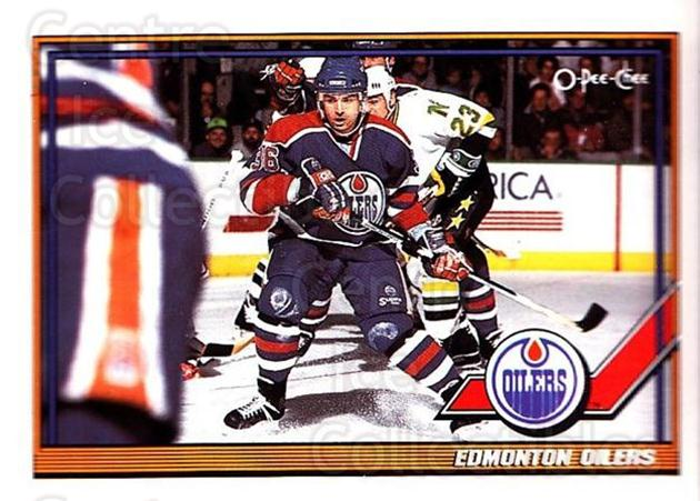 1991-92 O-Pee-Chee #103 Edmonton Oilers<br/>5 In Stock - $1.00 each - <a href=https://centericecollectibles.foxycart.com/cart?name=1991-92%20O-Pee-Chee%20%23103%20Edmonton%20Oilers...&quantity_max=5&price=$1.00&code=254070 class=foxycart> Buy it now! </a>