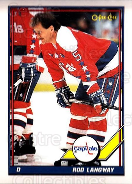 1991-92 O-Pee-Chee #105 Rod Langway<br/>4 In Stock - $1.00 each - <a href=https://centericecollectibles.foxycart.com/cart?name=1991-92%20O-Pee-Chee%20%23105%20Rod%20Langway...&quantity_max=4&price=$1.00&code=254072 class=foxycart> Buy it now! </a>
