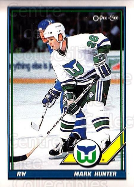 1991-92 O-Pee-Chee #109 Mark Hunter<br/>4 In Stock - $1.00 each - <a href=https://centericecollectibles.foxycart.com/cart?name=1991-92%20O-Pee-Chee%20%23109%20Mark%20Hunter...&quantity_max=4&price=$1.00&code=254076 class=foxycart> Buy it now! </a>