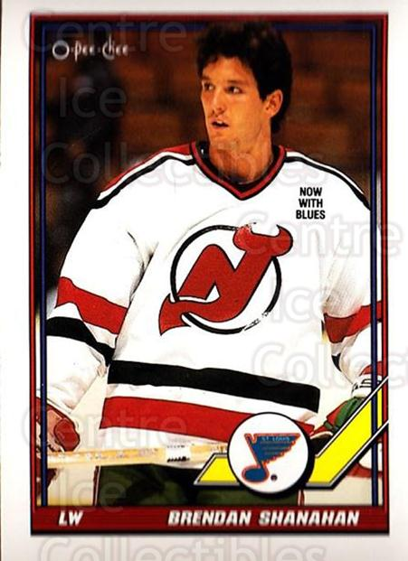 1991-92 O-Pee-Chee #140 Brendan Shanahan<br/>4 In Stock - $1.00 each - <a href=https://centericecollectibles.foxycart.com/cart?name=1991-92%20O-Pee-Chee%20%23140%20Brendan%20Shanaha...&quantity_max=4&price=$1.00&code=254107 class=foxycart> Buy it now! </a>