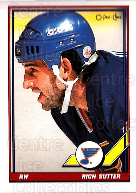 1991-92 O-Pee-Chee #143 Rich Sutter<br/>5 In Stock - $1.00 each - <a href=https://centericecollectibles.foxycart.com/cart?name=1991-92%20O-Pee-Chee%20%23143%20Rich%20Sutter...&quantity_max=5&price=$1.00&code=254110 class=foxycart> Buy it now! </a>