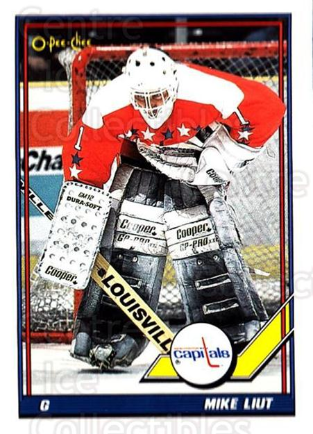 1991-92 O-Pee-Chee #154 Mike Liut<br/>5 In Stock - $1.00 each - <a href=https://centericecollectibles.foxycart.com/cart?name=1991-92%20O-Pee-Chee%20%23154%20Mike%20Liut...&quantity_max=5&price=$1.00&code=254121 class=foxycart> Buy it now! </a>