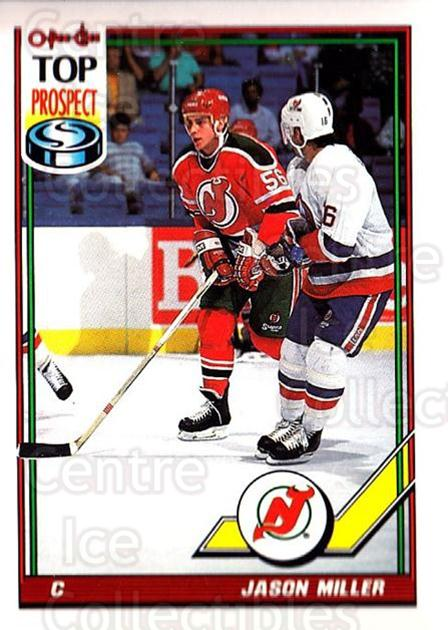 1991-92 O-Pee-Chee #163 Jason Miller<br/>5 In Stock - $1.00 each - <a href=https://centericecollectibles.foxycart.com/cart?name=1991-92%20O-Pee-Chee%20%23163%20Jason%20Miller...&quantity_max=5&price=$1.00&code=254130 class=foxycart> Buy it now! </a>