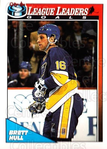 1991-92 O-Pee-Chee #190 Brett Hull<br/>5 In Stock - $1.00 each - <a href=https://centericecollectibles.foxycart.com/cart?name=1991-92%20O-Pee-Chee%20%23190%20Brett%20Hull...&price=$1.00&code=254157 class=foxycart> Buy it now! </a>