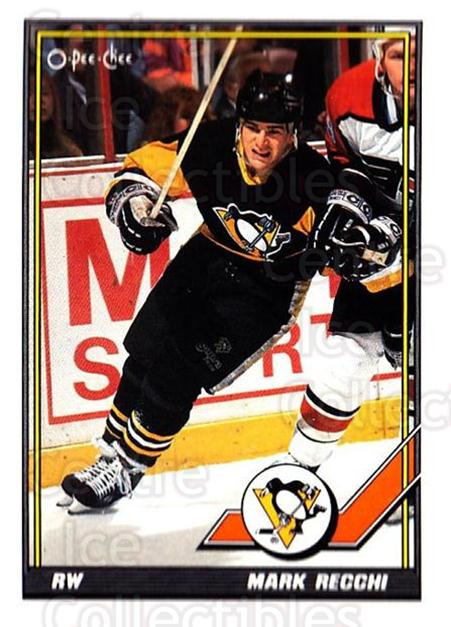 1991-92 O-Pee-Chee #196 Mark Recchi<br/>3 In Stock - $1.00 each - <a href=https://centericecollectibles.foxycart.com/cart?name=1991-92%20O-Pee-Chee%20%23196%20Mark%20Recchi...&quantity_max=3&price=$1.00&code=254163 class=foxycart> Buy it now! </a>