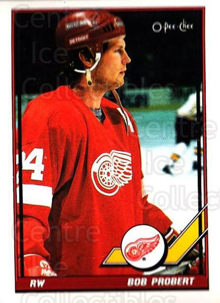 1991-92 O-Pee-Chee #198 Bob Probert<br/>3 In Stock - $1.00 each - <a href=https://centericecollectibles.foxycart.com/cart?name=1991-92%20O-Pee-Chee%20%23198%20Bob%20Probert...&quantity_max=3&price=$1.00&code=254165 class=foxycart> Buy it now! </a>