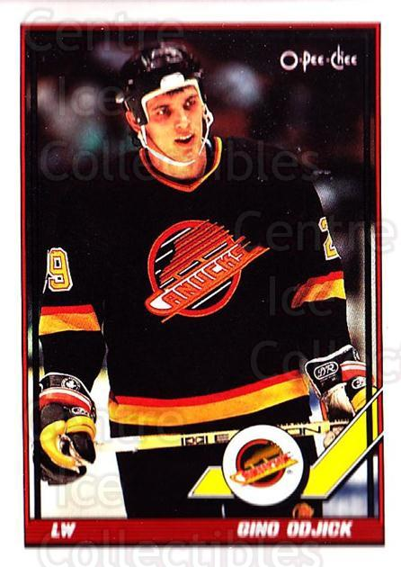 1991-92 O-Pee-Chee #203 Gino Odjick<br/>5 In Stock - $1.00 each - <a href=https://centericecollectibles.foxycart.com/cart?name=1991-92%20O-Pee-Chee%20%23203%20Gino%20Odjick...&quantity_max=5&price=$1.00&code=254170 class=foxycart> Buy it now! </a>