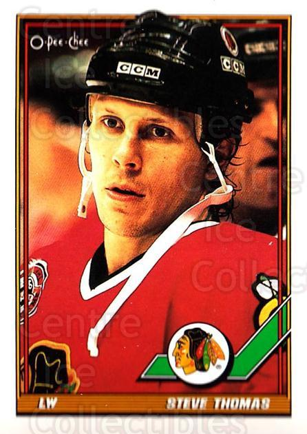 1991-92 O-Pee-Chee #210 Steve Thomas<br/>5 In Stock - $1.00 each - <a href=https://centericecollectibles.foxycart.com/cart?name=1991-92%20O-Pee-Chee%20%23210%20Steve%20Thomas...&quantity_max=5&price=$1.00&code=254177 class=foxycart> Buy it now! </a>
