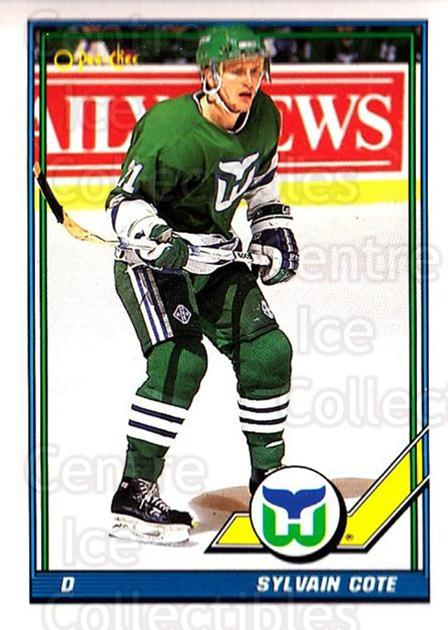 1991-92 O-Pee-Chee #249 Sylvain Cote<br/>5 In Stock - $1.00 each - <a href=https://centericecollectibles.foxycart.com/cart?name=1991-92%20O-Pee-Chee%20%23249%20Sylvain%20Cote...&quantity_max=5&price=$1.00&code=254216 class=foxycart> Buy it now! </a>