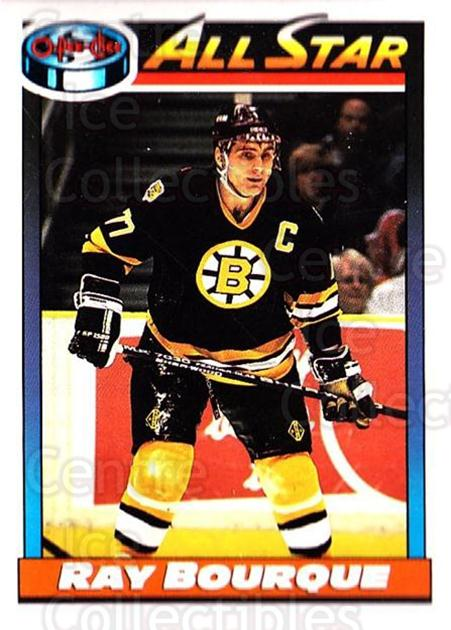 1991-92 O-Pee-Chee #261 Ray Bourque<br/>4 In Stock - $1.00 each - <a href=https://centericecollectibles.foxycart.com/cart?name=1991-92%20O-Pee-Chee%20%23261%20Ray%20Bourque...&quantity_max=4&price=$1.00&code=254228 class=foxycart> Buy it now! </a>