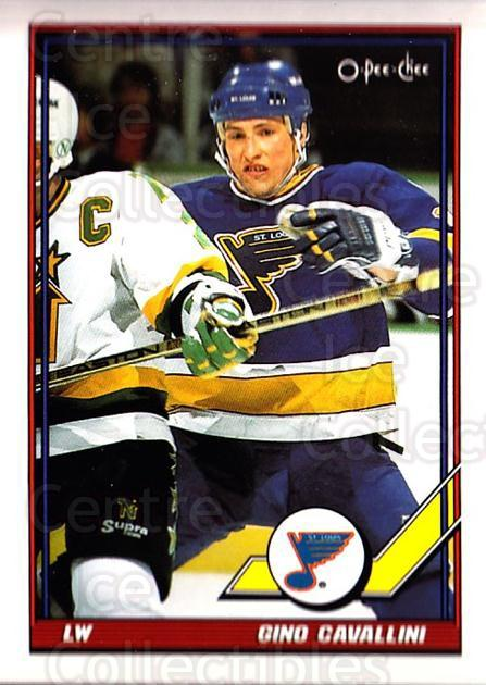 1991-92 O-Pee-Chee #281 Gino Cavallini<br/>2 In Stock - $1.00 each - <a href=https://centericecollectibles.foxycart.com/cart?name=1991-92%20O-Pee-Chee%20%23281%20Gino%20Cavallini...&quantity_max=2&price=$1.00&code=254248 class=foxycart> Buy it now! </a>