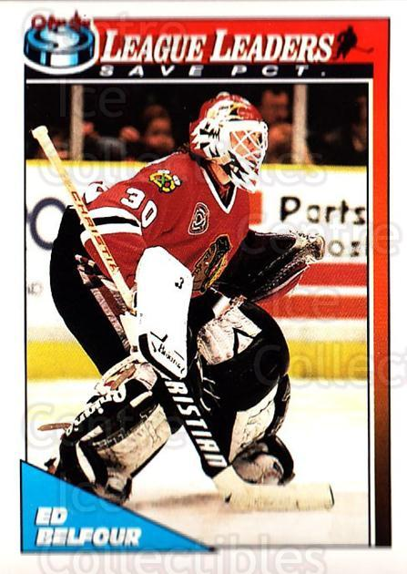1991-92 O-Pee-Chee #288 Ed Belfour<br/>4 In Stock - $1.00 each - <a href=https://centericecollectibles.foxycart.com/cart?name=1991-92%20O-Pee-Chee%20%23288%20Ed%20Belfour...&quantity_max=4&price=$1.00&code=254255 class=foxycart> Buy it now! </a>