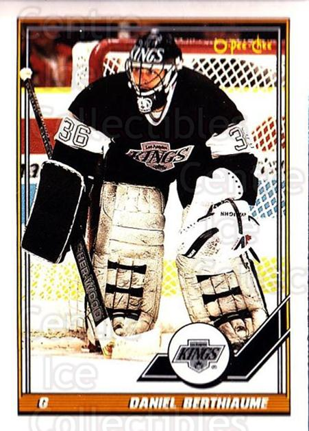 1991-92 O-Pee-Chee #313 Daniel Berthiaume<br/>6 In Stock - $1.00 each - <a href=https://centericecollectibles.foxycart.com/cart?name=1991-92%20O-Pee-Chee%20%23313%20Daniel%20Berthiau...&quantity_max=6&price=$1.00&code=254280 class=foxycart> Buy it now! </a>