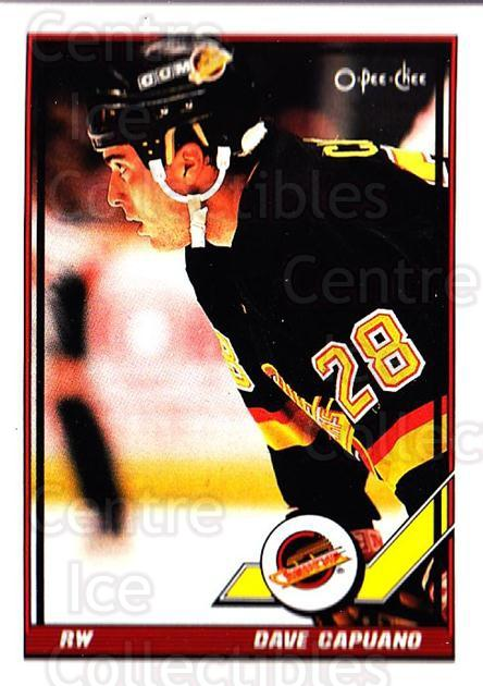 1991-92 O-Pee-Chee #318 Dave Capuano<br/>5 In Stock - $1.00 each - <a href=https://centericecollectibles.foxycart.com/cart?name=1991-92%20O-Pee-Chee%20%23318%20Dave%20Capuano...&quantity_max=5&price=$1.00&code=254285 class=foxycart> Buy it now! </a>