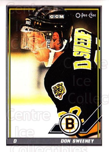 1991-92 O-Pee-Chee #319 Don Sweeney<br/>5 In Stock - $1.00 each - <a href=https://centericecollectibles.foxycart.com/cart?name=1991-92%20O-Pee-Chee%20%23319%20Don%20Sweeney...&quantity_max=5&price=$1.00&code=254286 class=foxycart> Buy it now! </a>